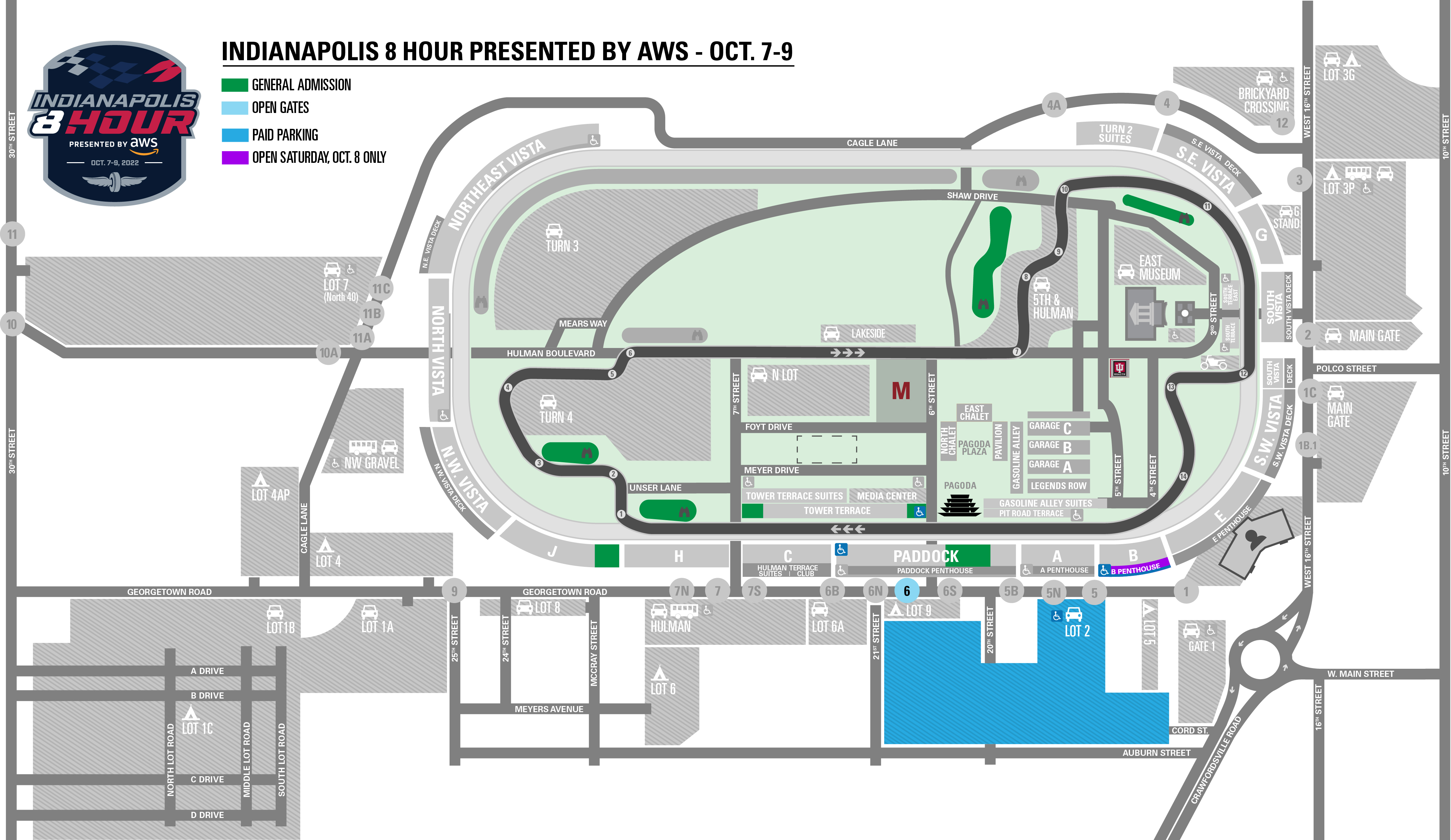 Indianapolis 8 Hour Event Map