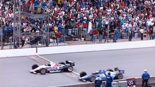 Al Unser Jr wins his first Indianapolis 500 by .043 sec. over Scott Goodyear in the closest Indianapolis 500 1-2 finish in history.
