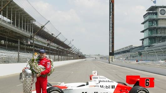 Gil de Ferran, driver of the #6 Marlboro Team Penske Panoz G-Force Toyota at Indianapolis Motor Speedway during the 87th Indianapolis 500-Mile Race