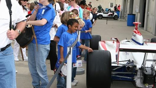 Young fans enjoy 500 Festival Community Day at the Indianapolis Motor Speedway.