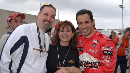 Helio Castroneves helped IndyCar/Indy 500 fan Stephen Flatt, of Atlanta, Ga., propose to girlfriend Lynnette Counts on Bump Day/Armed Forces Day. Obviously, she said,