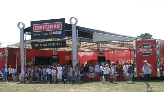 The Craftsman tool display during Race Day for the Allstate 400 at the Brickyard at the Indianapolis Motor Speedway.