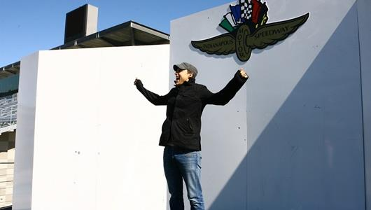 The Fray guitarist Joe King on the Victory Podium at IMS