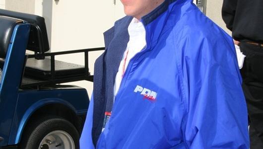 Jimmy Kite awaiting day 7 practice to begin.