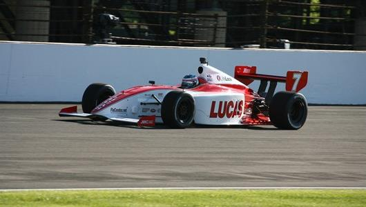 No. 7 Richard Antinucci on track during practice at the Indianapolis Motor Speedway.