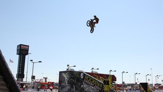 Metal Mulisha Freestyle Motocross Show before the start of Iowa Corn Indy 250.