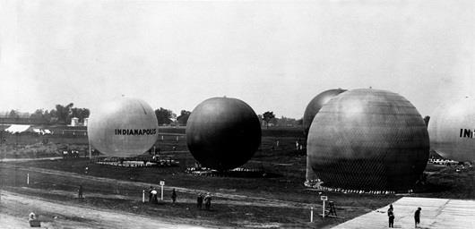 In 1909, there were two balloon distance competitions at IMS, a National Championship Balloon Race and a Handicap Balloon Race for balloons that did not qualify for the championship.