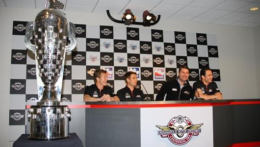From left: Ryan Briscoe, Will Power, Tim Cindric, Helio Castroneves
