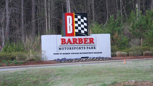 Entrance of Barber Motorsports Park.