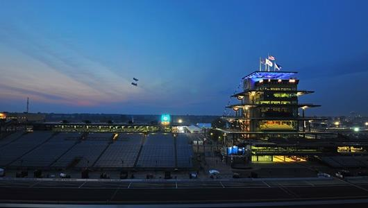 A beautiful early Race Day morning at the Speedway