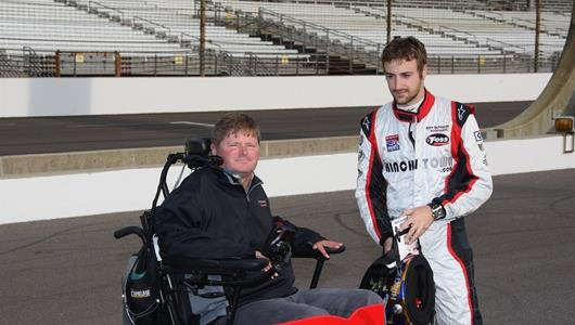 Sam Schmidt, left, and James Hinchcliffe