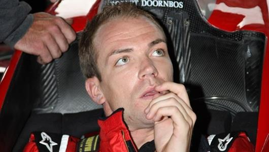Robert Doornbos listens to instructions.