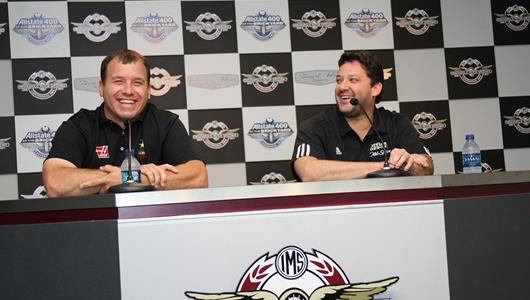 Indiana natives Ryan Newman, left, and Tony Stewart. Newman is a native of South Bend, Ind.,; Stewart lives in Columbus, Ind.