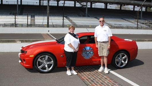 Indy 500 Pace Car Sweepstakes winners Barbara and Bruce Barhydt, from Apex, N.C.