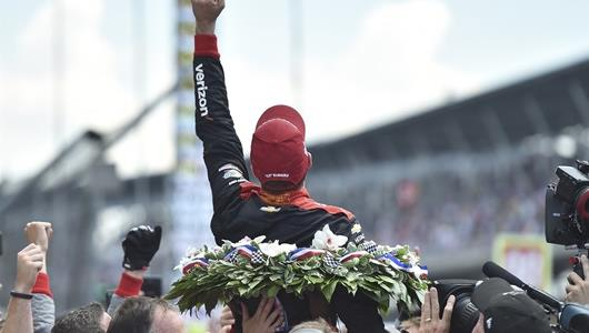 The Thrill of victory! Will Power wins the 102nd Indianapolis 500.