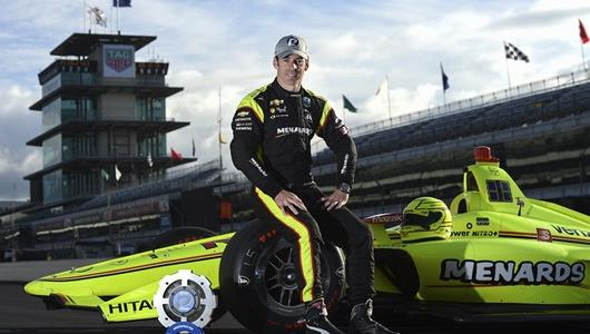 Simon Pagenaud as NTT Data P1 Award Winner for the 103rd Indianapolis 500 presented by Gainbridge.
