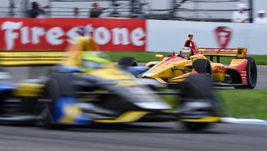 Ryan Hunter-Reay during the INDYCAR Grand Prix practice.
