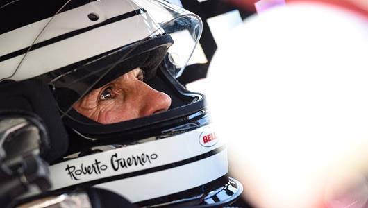 Roberto Guerrero prepares to take the wheel at SVRA 2019.