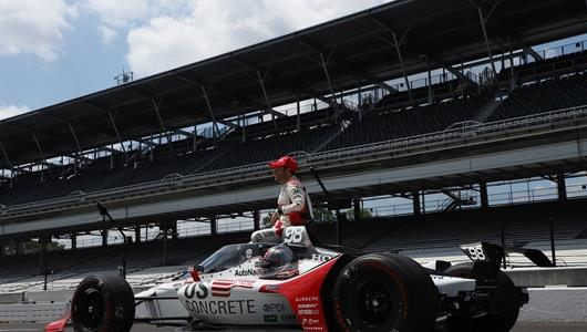 Marco Andretti during qualifying for the Indianapolis 500 at the Indianapolis Motor Speedway Saturday, August 15, 2020