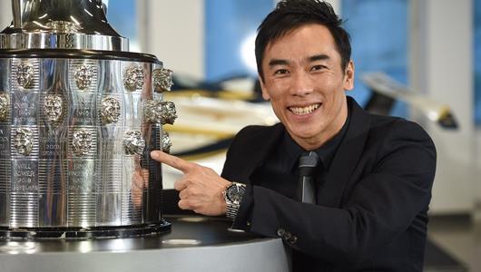 Takuma Sato Likeness Unveiled on the Borg-Warner Trophy