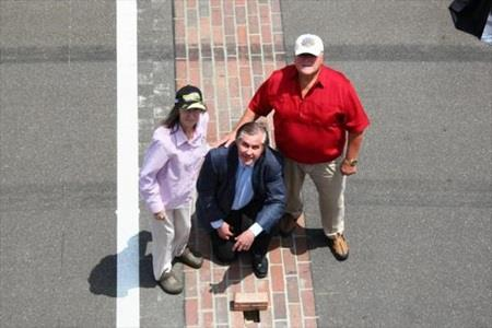 Centennial Golden Brick Placed In 'Yard Of Bricks' At IMS