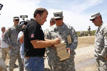 Newman Visits Camp Atterbury and IMS
