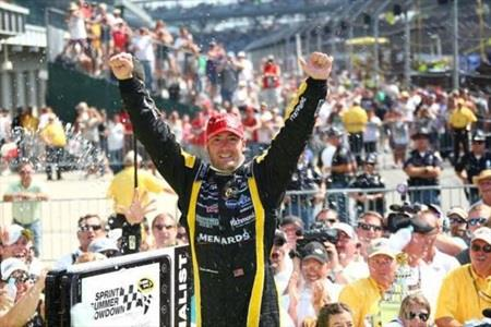 Menard Surprises Field With Emotional Brickyard Victory