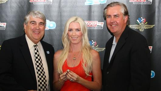 Susie Wheldon Receive's 2011 Indianapolis 500 Winner's Ring
