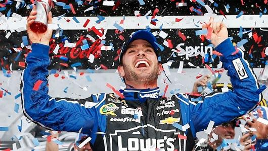 Winner Johnson, History-Maker Patrick Share Spotlight at Daytona 500