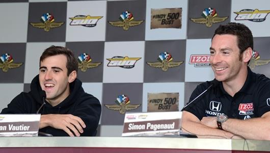 97th Indianapolis 500 Press Conference - Simon Pagenaud, Tristan Vautier