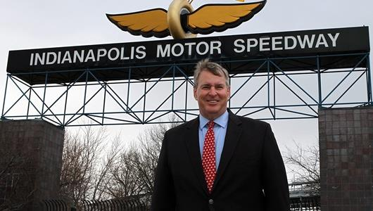 Indianapolis Mayor Ballard Attends Traditional Flag Placing Cermony at IMS