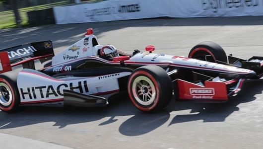 Castroneves Completes Sweep in Detroit For Team Penske