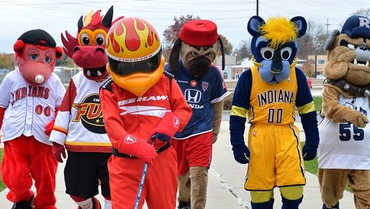 Indianapolis Mascots at IMS