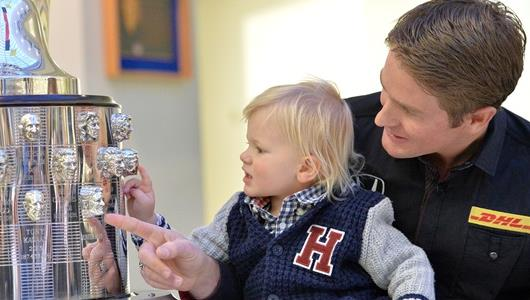 Ryan Hunter-Reay with his son Ryden Hunter-Reay