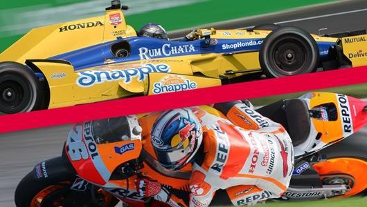 Dani Pedrosa and Marco Andretti