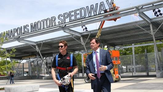 Scott Dixon with Doug Boles