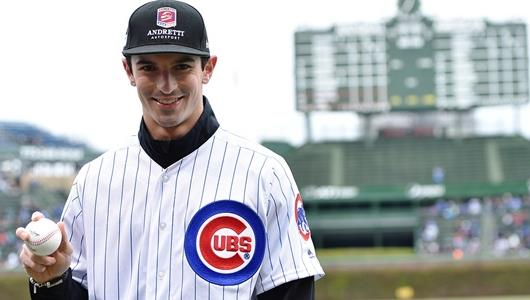 Alexander Rossi with the Chicago Cubs