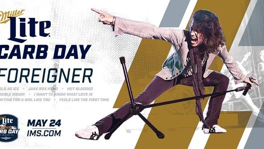 Miller Lite Carb Day featuring Foreigner