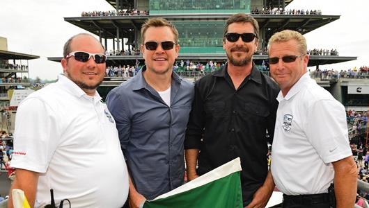 Matt Damon and Christian Bale attend 103rd Running of the Indianapolis 500