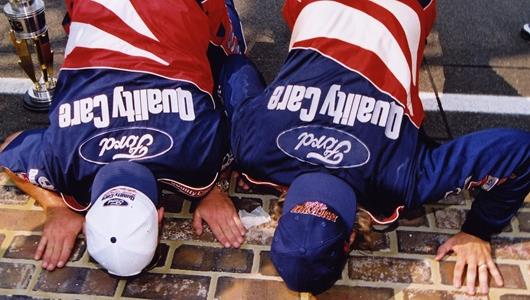 INDY 500 TRADITIONS: 'KISS THE BRICKS' IS MOST RECENT FAN FAVORITE TRADITION