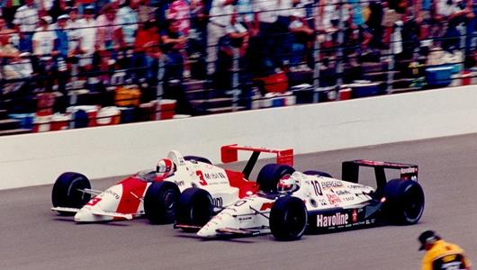 1991-Rick-Mears-Michael-Andretti-pass-mainstraight