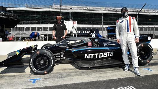 NASCAR Legend Johnson Exceeds All Expectations – Including His Own – in First INDYCAR Test at IMS