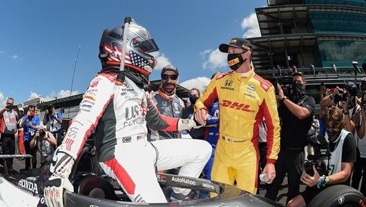 Andretti's Fellow Drivers Celebrated with Him -- and for Him