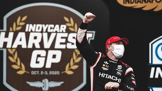 Newgarden Trims Dixon's Lead after Victory in Fast, Furious INDYCAR Harvest GP