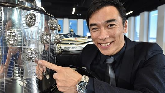 Sato Unveils Image on Borg-Warner Trophy during Online Show at IMS