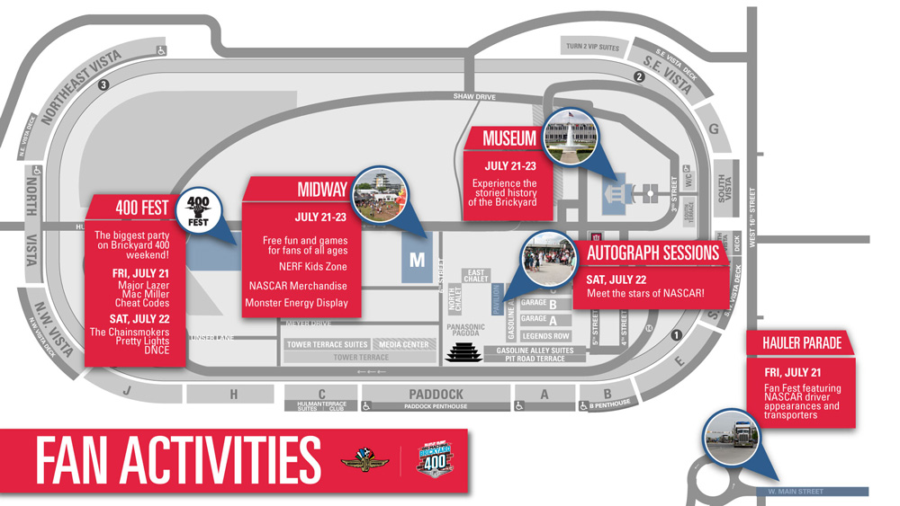 Fan Activities Map